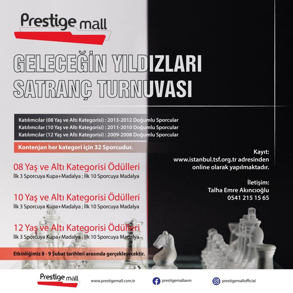Prestige Mall Avm Geleceğin Yıldızları Satranç Turnuvası